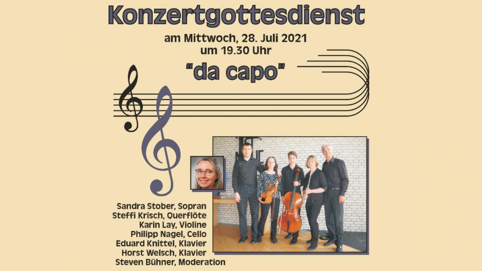"""Konzertgottesdienst mit """"da capo"""""""